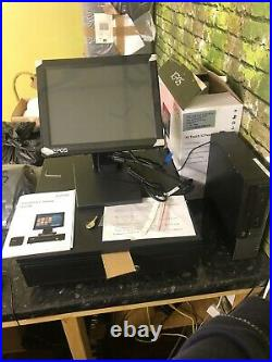12 POS EPOS Till System Cash Register Touchscreen Restaurant / Takeaway