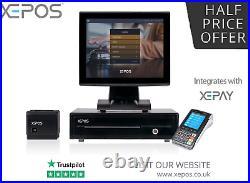 12 Touchscreen POS EPOS Cash Register Till System For Hospitality & Retail