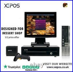 12in POS Touchscreen EPOS System POS Cash Register Till System For Dessert Shop