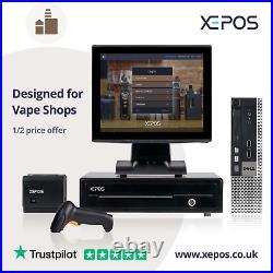 12in Retail EPOS System for Cash Register Till For Vape Shops