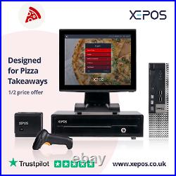 12in Takeaway EPOS System for Cash Register Till For Pizza Takeaways