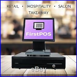 12in Touch Screen EPOS Cash Register Till System Dry Cleaning Laundrette Laundry