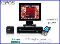 12in Touchscreen POS EPOS Cash Register Till System For Butcher Shop