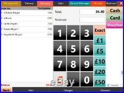 15 Touchscreen EPOS POS Cash Register Till System Hospitality / Restaurant
