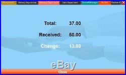 15 Touchscreen EPOS POS Cash Register Till System Hospitality / for Bars