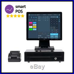 17 Touchscreen EPOS Cash Register Till System for Takeaway Business Fast Food