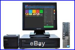 17 Touchscreen EPOS POS Cash Register Till System for Takeaway Businesses