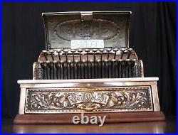 1903 National Cash Register Black & Brass Dolphin Pattern / NCR / Antique Till