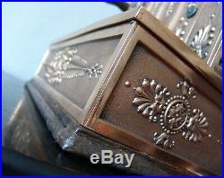 1907 Brass Crank National Cash Register NCR /Tiffany Empire Pattern/Antique Till