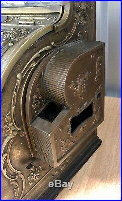 1908-15 Antique National Cash Till Register from an old shop Working Order