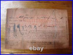 1940 Bare Metal Flat Top Lever Crank National Cash Register / Till / NCR