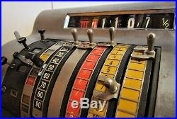1950s Bare Metal Electric & Manual Lever Crank National Cash Register NCR / Till