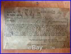 1959 Bare Metal Electric & Manual Lever Crank National Cash Register NCR / Till