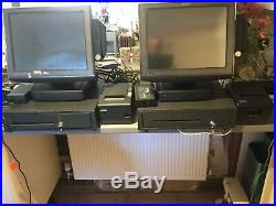 2 X Geller touch screen cash registers, tills and Epsom Printers