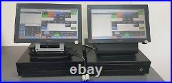2 x Casio cash register V-R7000-BD Epos Pos Till
