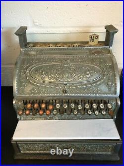 Amazing National Cash Register Till Dayton Ohio USA Antique