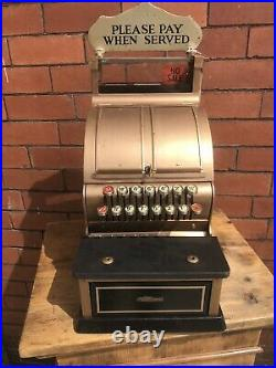 Antique 1920s 1930s Small Sized In Working Order National Till Cash Register
