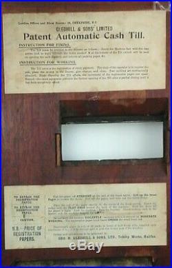 Antique Gledhill Cash Register Till, C. 1900 Period Shop Fitting