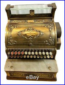 Antique National Cash Register Brass Till Shop Display Working Order No 921586