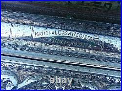 Antique National Cash Register Nickel Plated Original Dayton Ohio Till