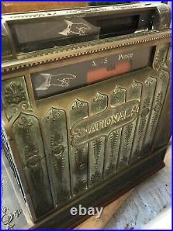 Antique National Cash Register Till from Approx. 1910 cast bronze