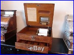 Antique Oak 1898 Model 201 National Cash Register /NCR/Autographic Ink Well Till