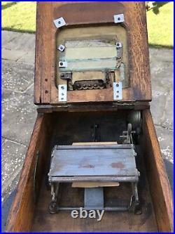 Antique Oak 1908 Model 15 National Cash Register / NCR / Autographic Till