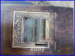 Antique Oak 1908 Model 15 National Cash Register / NCR / Autographic Till USA
