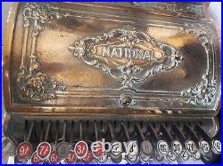 Antique brass cash register till (national) shop pub display prop STEVENSONS