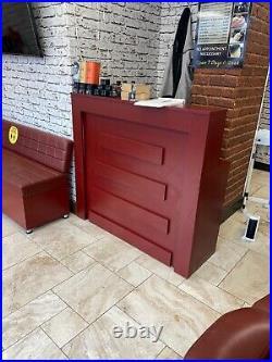 Barbershop Beauty Salon Reception Desk Cash Register Till Counter With Cupboard