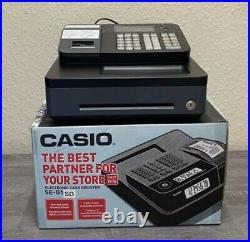 Black Casio SE-G1 Cash Register Shop Till SE G1 + till rolls + Keys + Manual