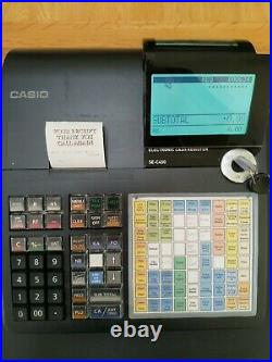 Black Casio Se-C450 Electronic Cash Register Till with spare Receipt Rolls
