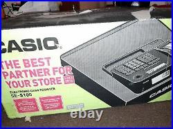 Black Casio Se-g1 Cash Register Shop Till Pub Bar Restaurant Cafe Spare Rolls