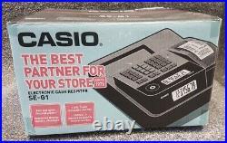 Brand New Original Casio Se-g1 Cash Register Black Till Free Uk Delivery