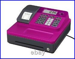 Brand New PINK CASIO cash register till SEG1 + Free Memory protection Batteries
