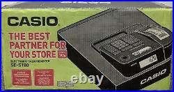 CASIO SE-S100 -SR- MD Electronic Cash Register With Till Rolls And Free P&P