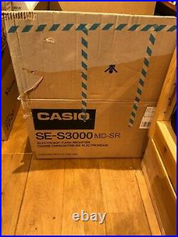 CASIO SE-S3000 Electronic Cash Register Complete Till With Keys Hardly Used