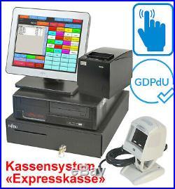 Cash Register System till Touchscreen Monitor Bonprinter Drawer for Retail Ka18
