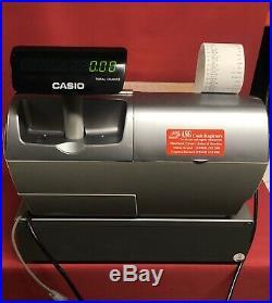 Casio Electronic TE-4500F DL-2795 Cash Register Till Metrologic MS9520 Scanner
