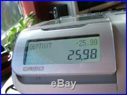 Casio SE-S3000 Till Multi Depts Change Calculation Perfect Working Cash Register