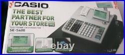 Casio SE-S400 Retail Cash Register basic simple shop till. Electronic-Boxed