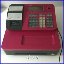 Casio SEG1 SE-G1 Cash Register Pink Plus 10x Till Rolls -Very Good Condition