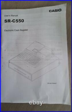 Casio SR C550 till Electronic Cash Register unused purchased but not needed