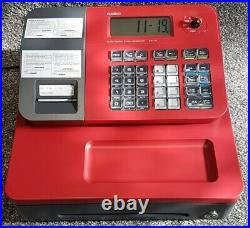 Casio Se-g1 Cash Register Red 5 Free Till Rolls Fast And Free Uk Delivery