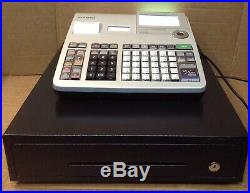 Casio Se-s3000 Electronic Cash Register Complete With Till Rolls And Free P&p