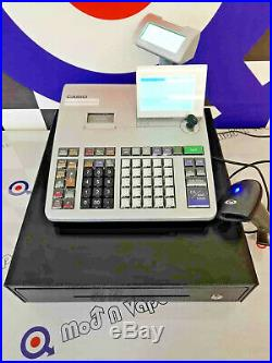Casio Se-s400 Cash Register Till Fwo With Keys Tray Manual & Barcode Scanner