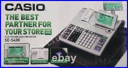 Casio Se-s400 Fully Refurbish Cash Register 10 Free Till Rolls Includes Manual