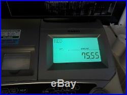 Casio TE2400 Cash Register Used Restaurant Fast Food Till EPOS