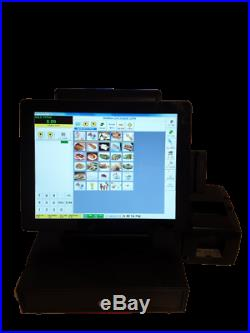 EPOS TOUCH POS Till + CUSTOMER DISPLAY /COFFEE SHOP BAR SALON PIZZA HAIR CHINESE