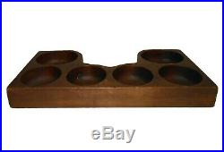 Early 20th C American Vint Carved Wooden Cash Register Till (jigged & Routered)